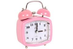 Ρολόι ξυπνητήρι τετράγωνο με φως 8Χ4,5Χ11,5 εκ. χρ. ροζ