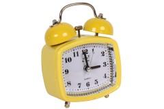 Ρολόι ξυπνητήρι τετράγωνο με φως 8Χ4,5Χ11,5 εκ. χρ. κίτρινο