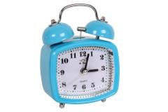 Ρολόι ξυπνητήρι τετράγωνο με φως 8Χ4,5Χ11,5 εκ. χρ. μπλε