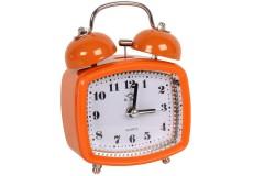 Ρολόι ξυπνητήρι τετράγωνο με φως 8Χ4,5Χ11,5 εκ. χρ. πορτοκαλί