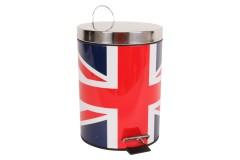 Κάδος μπάνιου μεταλλικός με ΙΝΟΧ καπάκι Φ20Χ27,5 εκ. σχ. FLAG