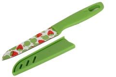 Μαχαίρι 20 εκ. με πλαστική λαβή χρ. πράσινο με σχέδιο