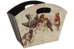 Εφημεριδοθήκη πτυσσόμενη PU 37,5Χ29Χ19 εκ. σχ. BIRDS