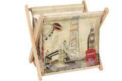 Εφημεριδοθήκη ξύλινη πτυσσόμενη 28Χ22Χ25 εκ. σχ. LONDON BRIDGE