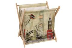 Εφημεριδοθήκη ξύλινη πτυσσόμενη 38Χ29Χ40 εκ. σχ. LONDON BRIDGE