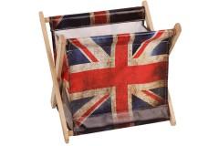 Εφημεριδοθήκη ξύλινη πτυσσόμενη 28Χ22Χ25 εκ. σχ. LONDON FLAG
