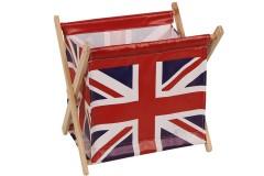 Εφημεριδοθήκη ξύλινη πτυσσόμενη 33Χ25Χ32 εκ. σχ. LONDON FLAG