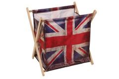 Εφημεριδοθήκη ξύλινη πτυσσόμενη 38Χ29Χ40 εκ. σχ. LONDON FLAG