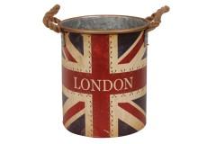 Κάδος μεταλλικός Φ25,5Χ29,5 εκ. σχ. LONDON
