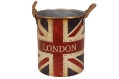 Κάδος μεταλλικός Φ28,5Χ32,5 εκ. σχ. LONDON