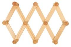 Κρεμάστρα τοίχου πτυσσόμενη ξύλινη με 10 θέσεις