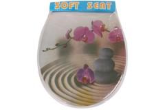 Καπάκι λεκάνης τουαλέτας μαλακό 40Χ36 εκ. σχ. FLOWER
