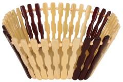 Ψωμιέρα ξύλινη μπαμπού 20Χ20Χ9 εκ. χρ. μπεζ - καφέ