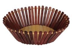Ψωμιέρα - καλάθι οβάλ ξύλινη μπαμπού 27Χ23Χ9 εκ. χρ. καφέ
