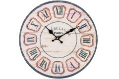 Ρολόι τοίχου ξύλινο Φ30 εκ. σχ. PARIS