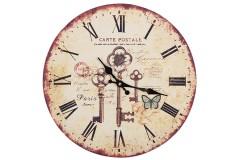 Ρολόι τοίχου ξύλινο Φ30 εκ. σχ. KEYS