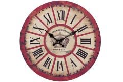 Ρολόι τοίχου ξύλινο Φ30 εκ. σχ. CROWN RED