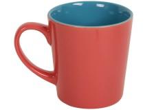 Κούπα κεραμική 400 ml Φ9Χ10 εκ. χρ. σομόν - μπλε