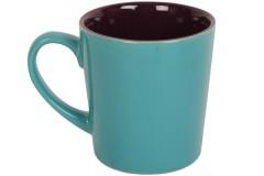 Κούπα κεραμική 400 ml Φ9Χ10 εκ. χρ. τιρκουάζ - μωβ