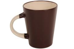 Κούπα κεραμική 350 ml Φ8,5Χ10,5 εκ. χρ. καφέ - μπεζ