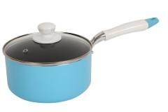 Κατσαρόλα με ένα χέρι αντικολλητική Ν.18 χρ. μπλε - HOMELUX HL01801