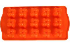 Φόρμα σιλικόνης για σοκολατάκια 21Χ10 εκ. σχ. ΚΑΡΩ χρ. πορτοκαλί