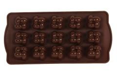 Φόρμα σιλικόνης για σοκολατάκια 21Χ10 εκ. σχ. ΚΑΡΩ χρ. καφέ