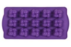 Φόρμα σιλικόνης για σοκολατάκια 21Χ10 εκ. σχ. ΚΑΡΩ χρ. μωβ