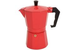 Καφετιέρα - μπρίκι Espresso για 6 φλιτζάνια χρ. κόκκινο - OEM HLP1-60C