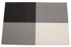 Σουπλά 45Χ30 εκ. σχ. ΚΑΡΩ χρ. μαύρο - λευκό