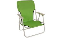 Καρέκλα παραλίας μεταλλικό πτυσσόμενο με ύφασμα χρ. πράσινο - HL811