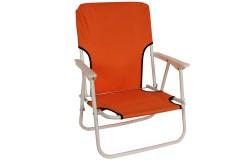 Καρέκλα παραλίας μεταλλικό πτυσσόμενο με ύφασμα χρ. πορτοκαλί - HL809