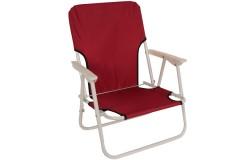 Καρέκλα παραλίας μεταλλική πτυσσόμενη με ύφασμα χρ. κόκκινο - HL808