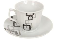 Φλιτζάνι καφέ τεμ. 1 πορσελάνης με πιατελάκι 66 ml σχ. ΚΑΡΟ