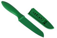 Μαχαίρι 22 εκ. με θήκη και πλαστική λαβή χρ. πράσινο