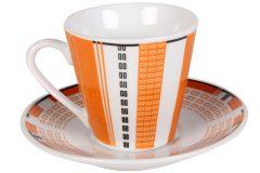 Φλιτζάνι espresso - καφέ τεμ. 1 πορσελάνης με πιατελάκι 73 ml σχ. LINES χρ. πορτοκαλί