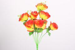 Λουλούδι μπουκέτο τριαντάφυλλο 40 εκ. με 9 άνθη χρ. πορτοκαλί