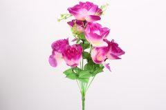 Λουλούδι μπουκέτο τριαντάφυλλο 40 εκ. με 9 άνθη χρ. μωβ