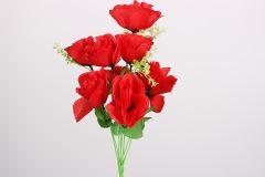 Λουλούδι μπουκέτο τριαντάφυλλο 40 εκ. με 9 άνθη χρ. κόκκινο