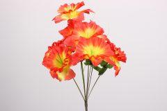 Λουλούδι μπουκέτο 44 εκ. με 9 άνθη χρ. πορτοκαλί