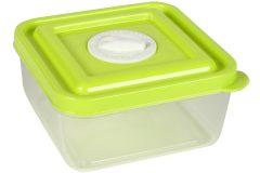Τάπερ - δοχείο φαγητού πλαστικό 10Χ10Χ5 εκ. χρ. πράσινο