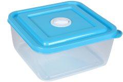 Τάπερ - δοχείο φαγητού πλαστικό 16Χ16Χ7,5 εκ. χρ. μπλε