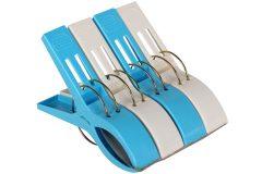 Μανταλάκι πλαστικό τεμ. 1 γίγας 15 εκ. χρ. λευκό - μπλε