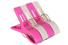 Μανταλάκι πλαστικό τεμ. 1 γίγας 15 εκ. χρ. λευκό - ροζ