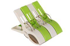 Μανταλάκι πλαστικό τεμ. 1 γίγας 15 εκ. χρ. λευκό - πράσινο