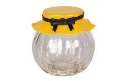 Βάζο αποθήκευσης γυάλινο 235 ml Φ8Χ8 εκ. με πλαστικό καπάκι χρ. κίτρινο