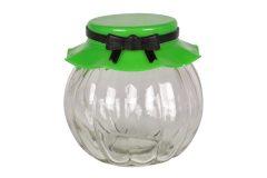 Βάζο αποθήκευσης γυάλινο 235 ml Φ8Χ8 εκ. με πλαστικό καπάκι χρ. πράσινο