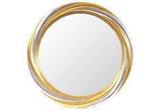 Καθρέπτης τοίχου Φ83 εκ. POLYRESIN χρ. χρυσό - ασημί