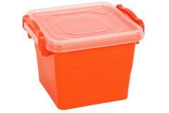 Τάπερ - δοχείο φαγητού πλαστικό 550 ml 11,5Χ10,5Χ9 εκ. με σύστημα ασφαλείας χρ. πορτοκαλί