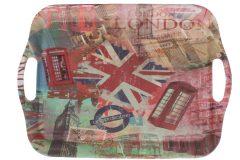 Δίσκος σερβιρίσματος πλαστικός μελαμίνης 36,5Χ26,5 εκ. σχ. LONDON